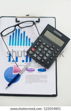 Close up of business-making objects - stock photo