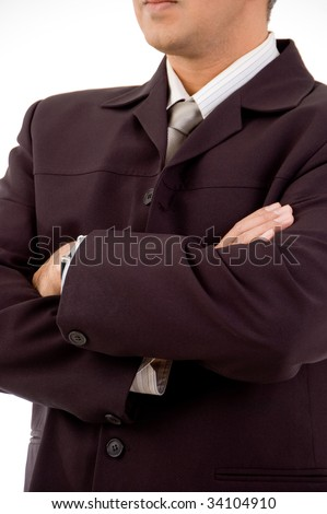 Close-up of business person - stock photo