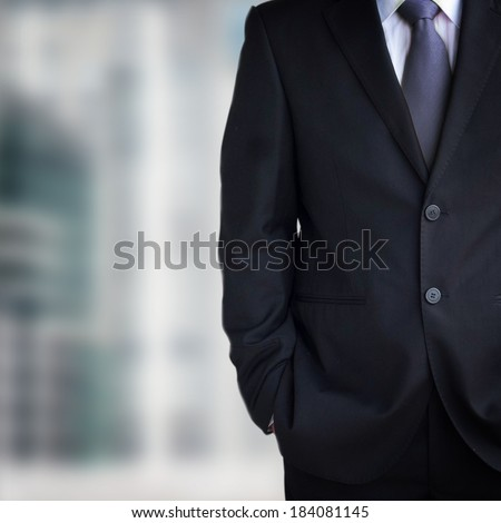 Close up of businessman in suit  - stock photo