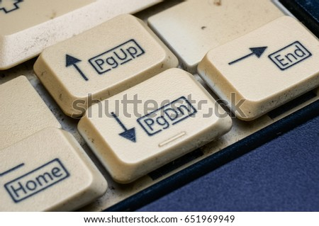 close up of button on keyboard