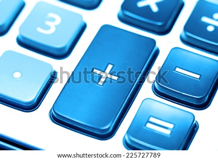 Close up of Calculator key pad buttons - stock photo