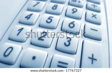 Close up of Calculator keypad - stock photo