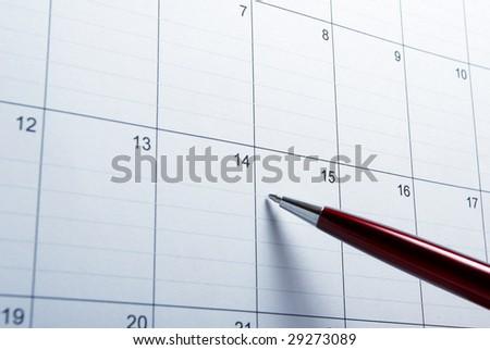 close up of calendar a - stock photo