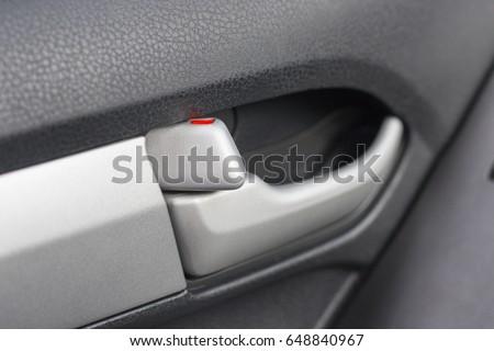 Close Car Door Lock Button Stock Photo Royalty Free 648840967