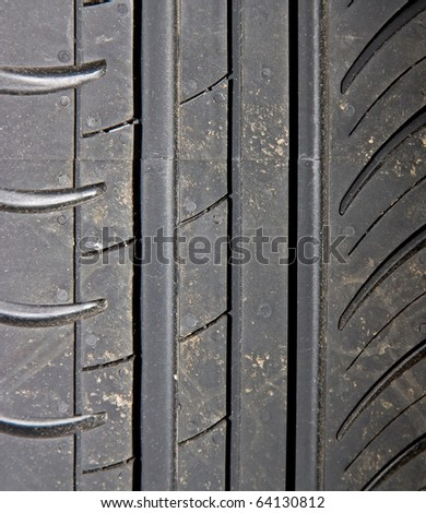 Close-up of car tire to background - stock photo