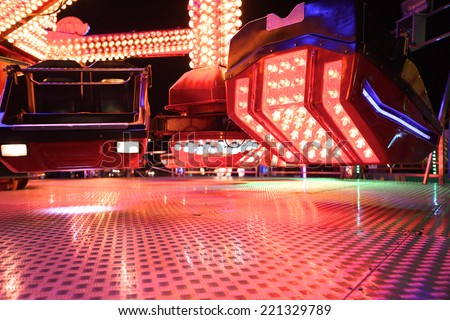 Close up of carousel at night - stock photo