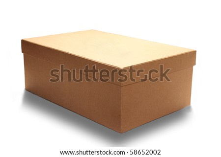 close up of carton box - stock photo