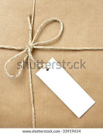 close up of carton  box  post package on white background with clipping path