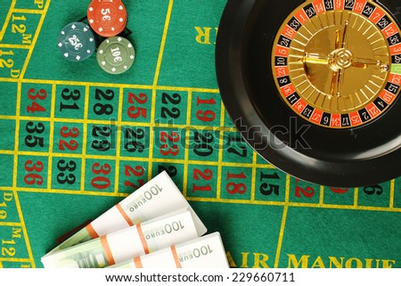 Close up of casino roulette Cales. Background - stock photo