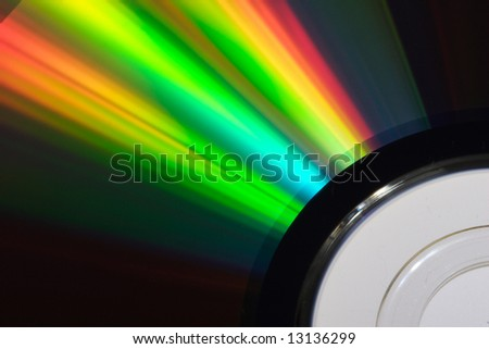 Close up of cd disc - stock photo