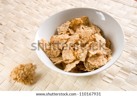 close up of cereals for breakfast - stock photo