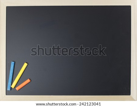 close up of chalkboard - stock photo