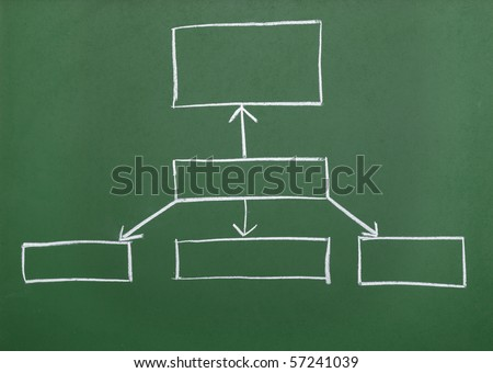 close up of chalkboard with finance business graph - stock photo