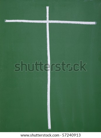 close up of chalkboard with pros and cons columns - stock photo