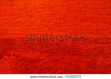 Close up of cherry wood cabinet - stock photo