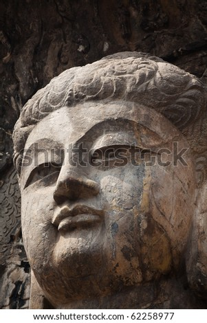 close-up of chinese buddha statue