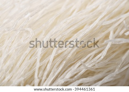 Close up of chinese glass noodles isolated on white - stock photo