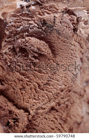 Close up of chocolate ice cream - stock photo