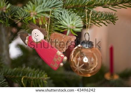 close up of christmas decoration - stock photo