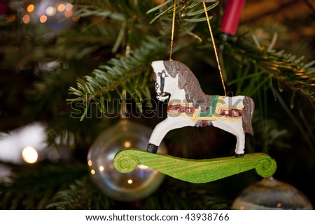 close up of christmas decoration - stock photo