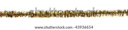 close up of christmas decoration on white background - stock photo
