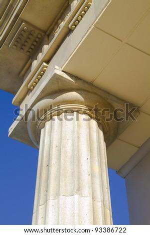 close-up of classic columns - stock photo