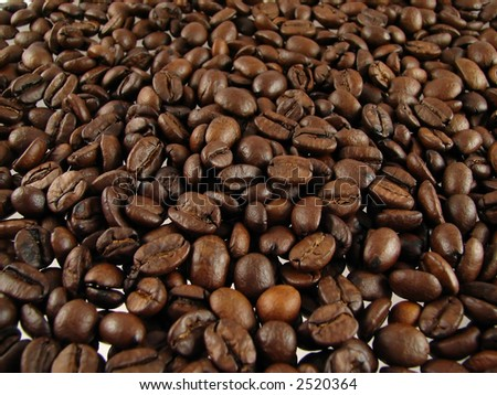 Close-up of coffee beans - stock photo