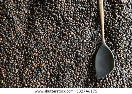 Close up of coffee beans background.