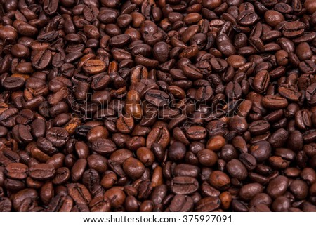 Close-up of coffee beans background