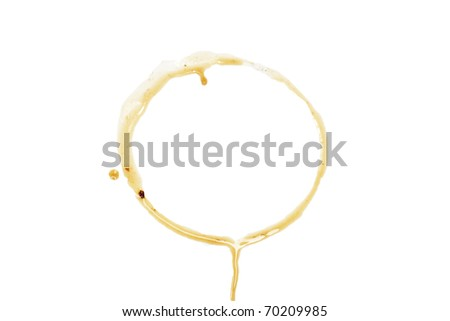 close up of coffee cup marks on white background - stock photo
