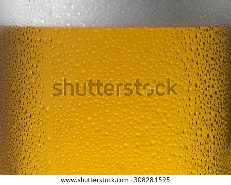 CLOSE UP OF COLD BEER - stock photo