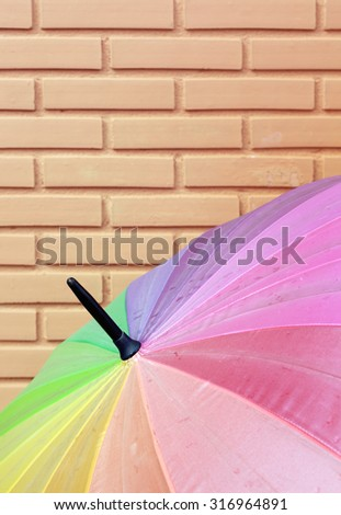 Close up of Color full Umbrella.