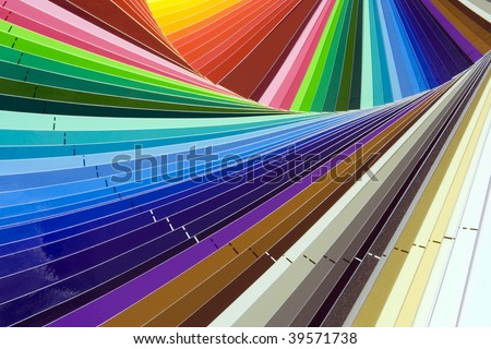 Close up of color guide spectrum - stock photo