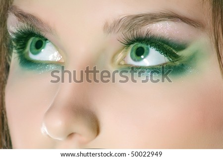 Close-up of color make-up