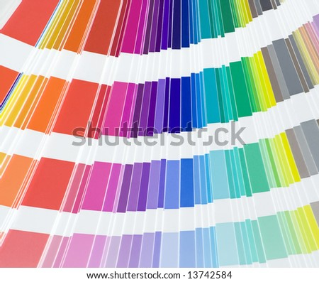 Close up of color scale - stock photo