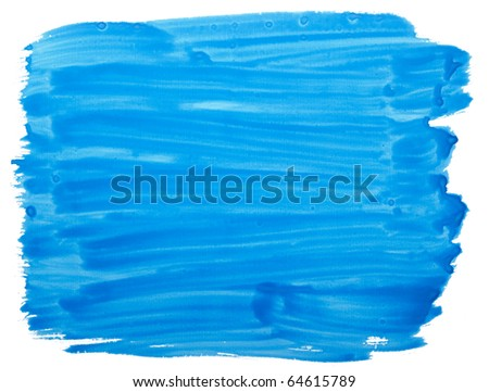 close up of  color strokes on white background - stock photo