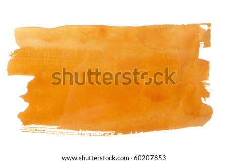 close up of  color strokes on white background  with clipping path - stock photo