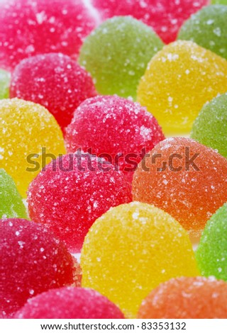 Close-up of Colorful Candies, full frame. - stock photo