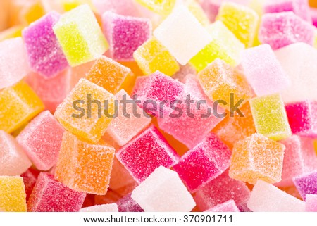 Close-up of colorful candy - stock photo