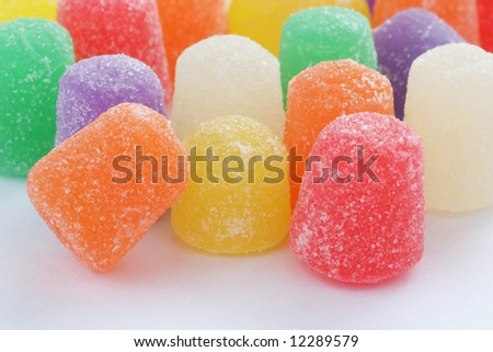 Close up of colorful gumdrops - stock photo