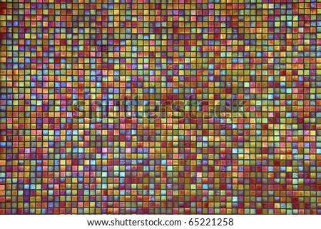Close up of colorful mosaic tiles for background - stock photo