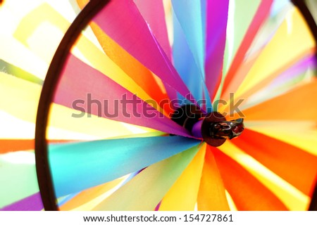 Close-up of colorful toy windmill