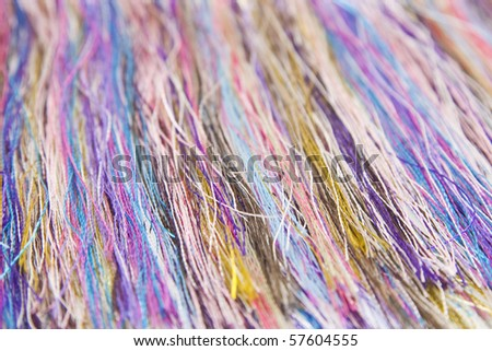 Close-up of colorful yarn - stock photo