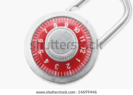 Close Up of Combination Lock on Seamless Background