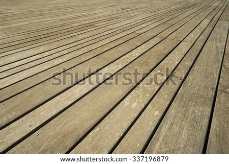 Close up of composite decking - stock photo