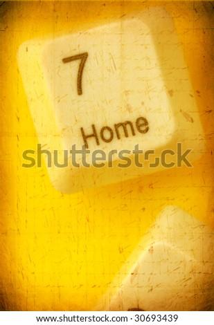 Close up of computer key - stock photo