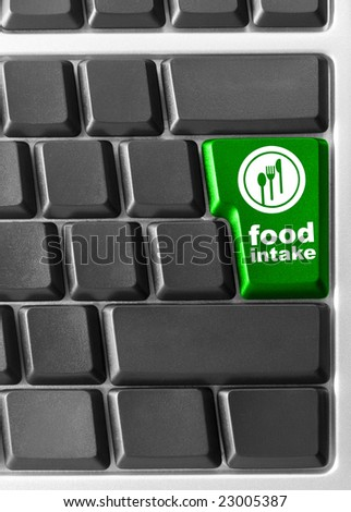 "Close-up of Computer keyboard,  with ""Food instant"" key"