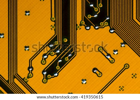 close-up of computer motherboard - stock photo