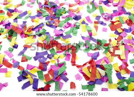 close up of confetti on white background - stock photo