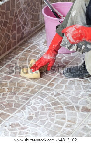 Close up of construction worker - stock photo